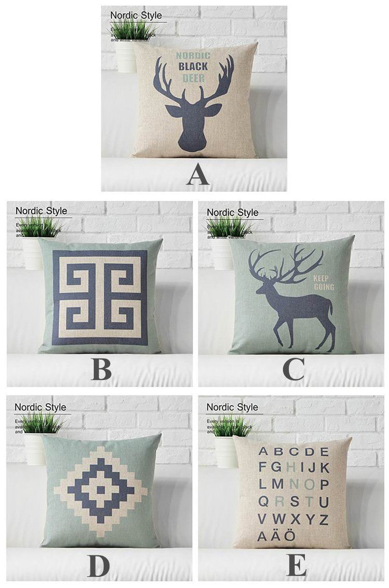 Happy deer Animals Cushion