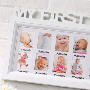 Creative baby growth PVC photo frame one year old gift