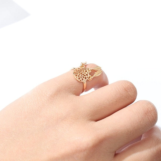 Geometric polygon triangular square open ring tail ring jewelry