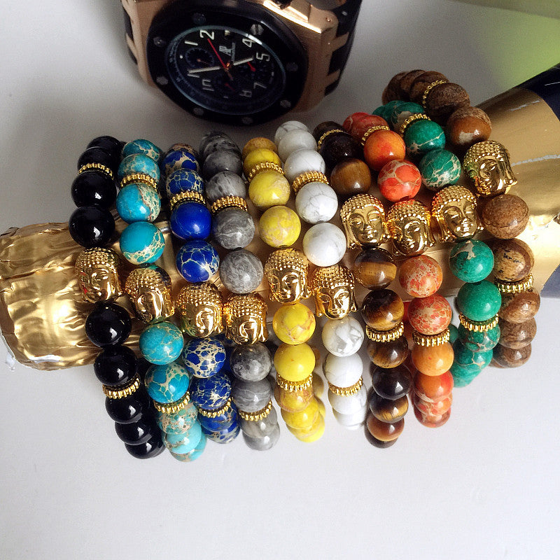 Men's Beaded Buddha Bracelet Yoga Jewelry