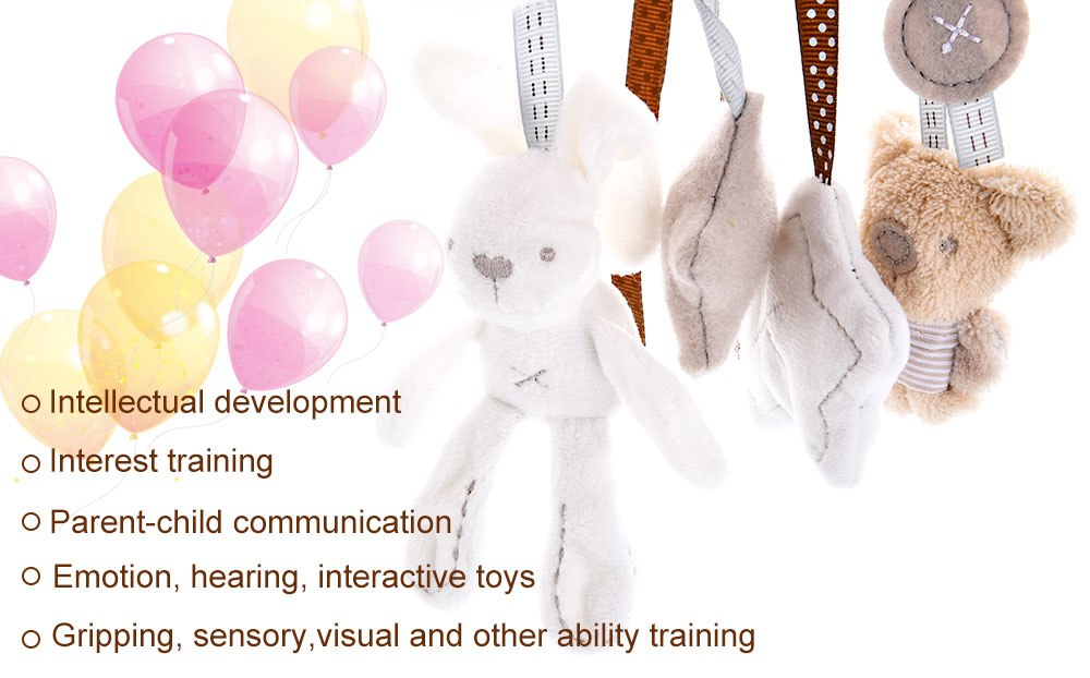 Baby Rabbit Mobile Toy with Music for Relaxation