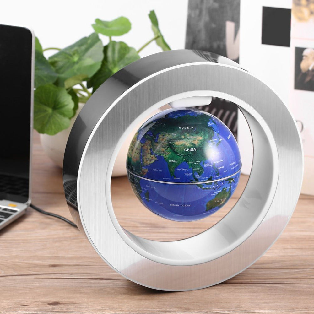 LED World Map Magnetic Floating Globe