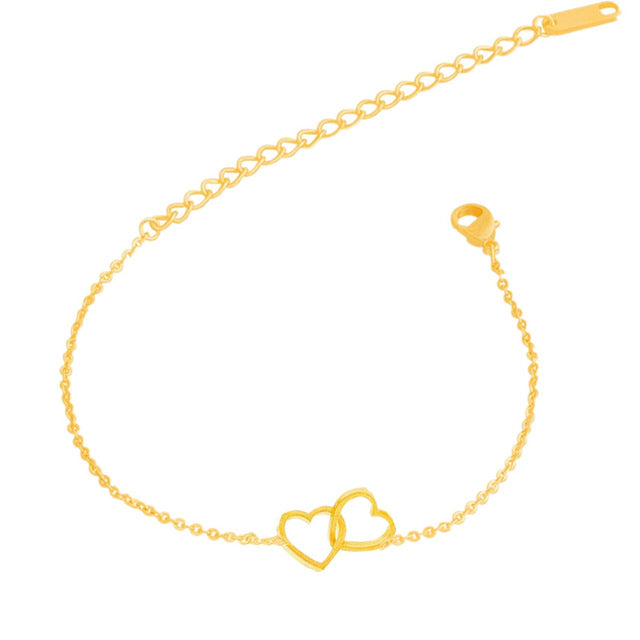 Unique Double Heart Anklet