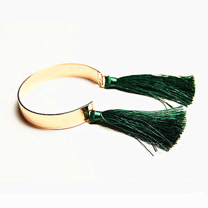 Fashion bracelet jewelry tassel dangle cuff 1