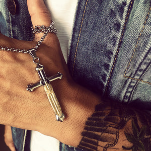 Jesus Cross Stainless Steel necklaces & pendants unisex