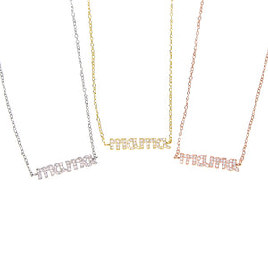 trendy tiny Genuine Mama Necklace