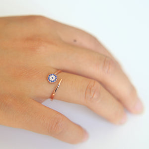 High Quality Open Ring Evil Eye