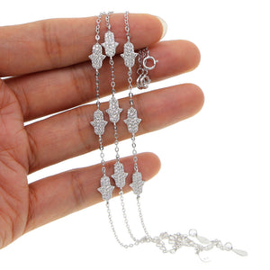 Hamsa Sterling Silver delicate adjustable Bracelets