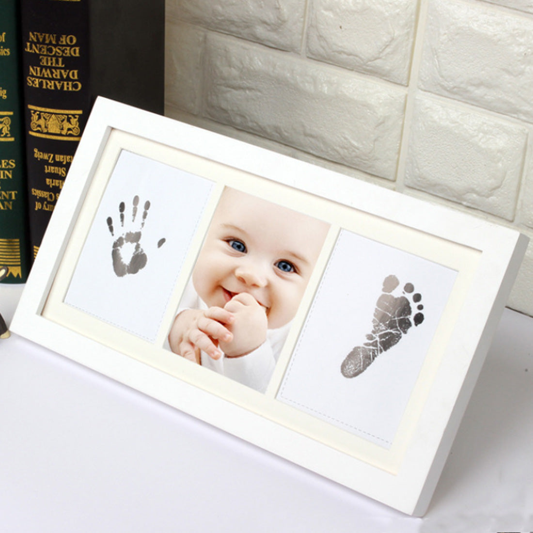 Pic Frame Touch Ink Pad Girl/Boy Baby Shower Original Gift