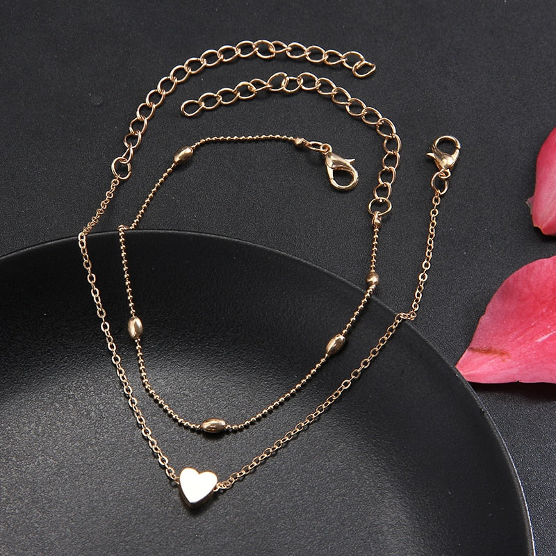Heart Female Anklets Jewelry