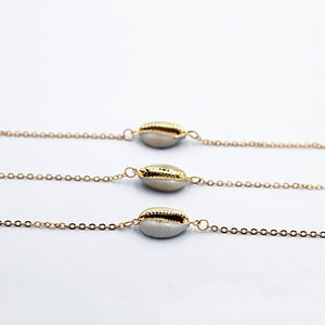 gold color shell bracelet