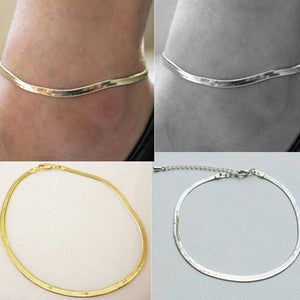 Silver/Gold Chain Adjustable Charm Anklet