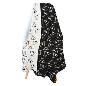 Baby Blanket Pure Cotton 75x100cm Black White