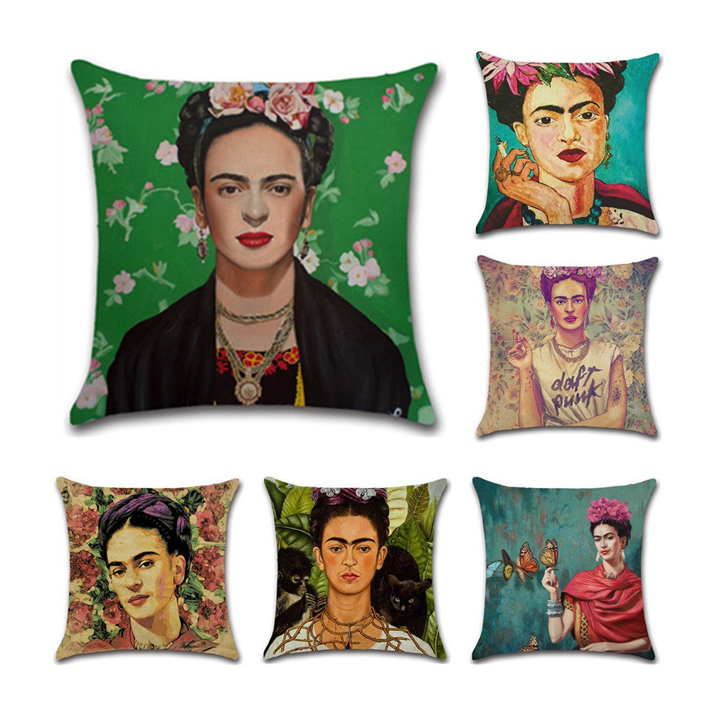 Pillow Cover Home Decor Frida Kahlo