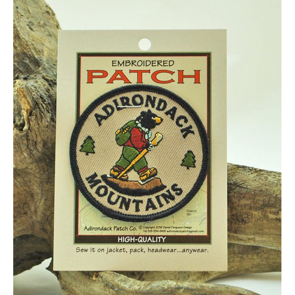 Adirondack Mountains Hiking Bear Patch