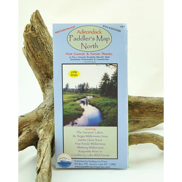 Adirondack Paddler's Map North