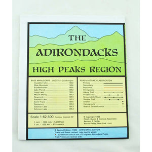Adirondacks High Peaks Map