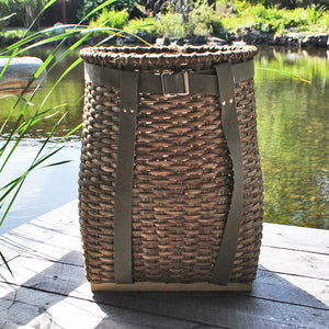 Large Packbasket (Dark with Olive Straps)