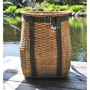 Large Packbasket (Light with Olive Straps)