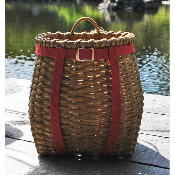 Small Packbasket (Light with Red Straps)