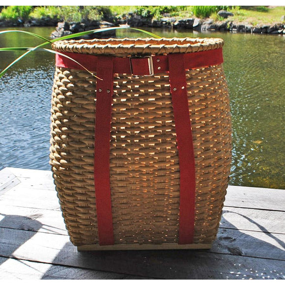 Large Packbasket (Light with Red Straps)