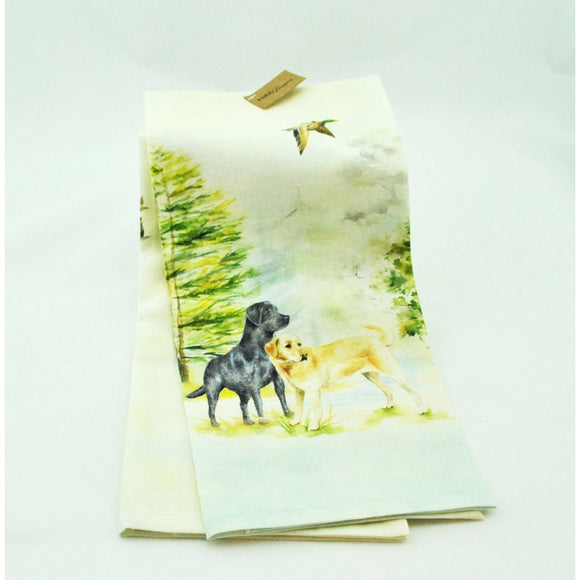 Two Labs Cotton Dish Towel