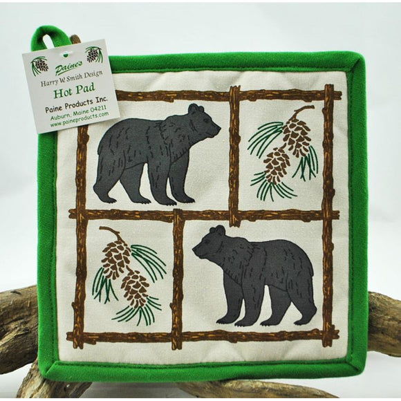 Bear and Pinecone Pot Holder