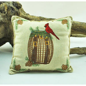 Cardinal on Packbasket Balsam Pillow