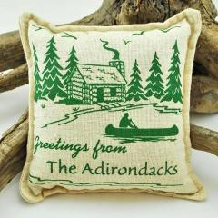 """Greetings from the Adirondacks"" Balsam Pillow"