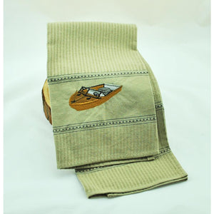 Wooden Boat Dish Towel