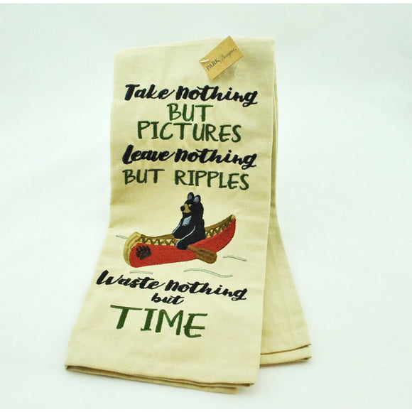 Take Nothing But Pictures Embroidered Dish Towel