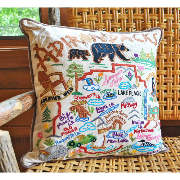Embroidered Adirondacks Pillow