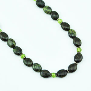 Beaded Serpentine Necklace