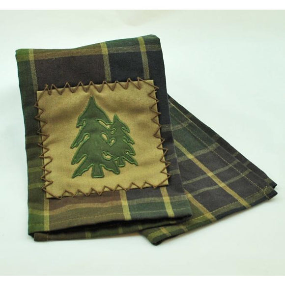 Frontier Plaid with Trees DishTowel