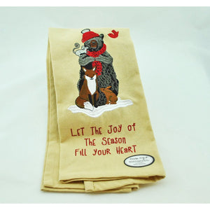 Joy of the Season Embroidered Dish Towel