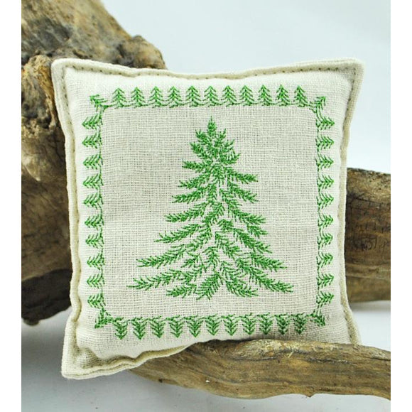 Embroidered Small Tree Balsam Pillow