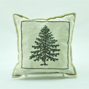 Embroidered Tree Balsam Pillow