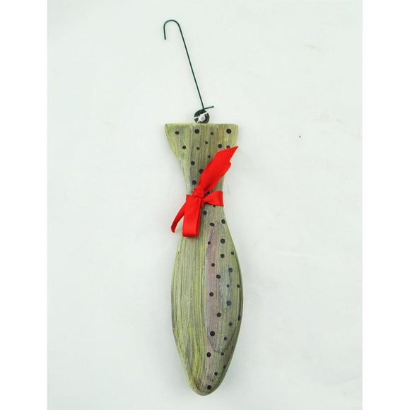 Hand Crafted Wooden Fish Ornament