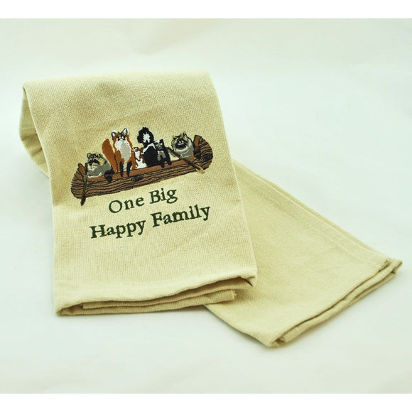 One Big Happy Family Dish Towel