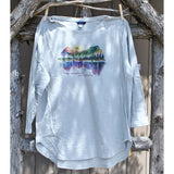 Mountain Watercolors 3/4 Sleeve Shirt (3 Colors Available)
