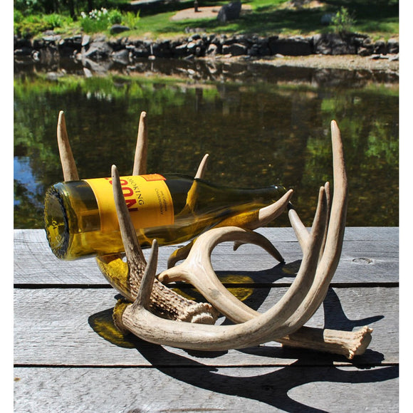 2 Bottle Antler Wine Rack
