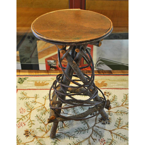 Copper Top Round Accent Table (Available for Pick-Up Only)