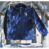Youth Embroidered Moose Fleece Zip-Up (2 Colors Available)