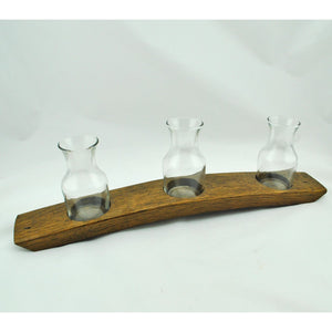 Wooden Barrel Carafe Flight