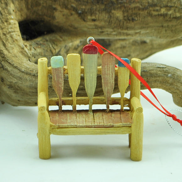 Bench with Paddles Ornament