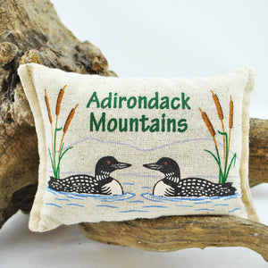 Two Loons Adirondack Mountains Balsam Pillow