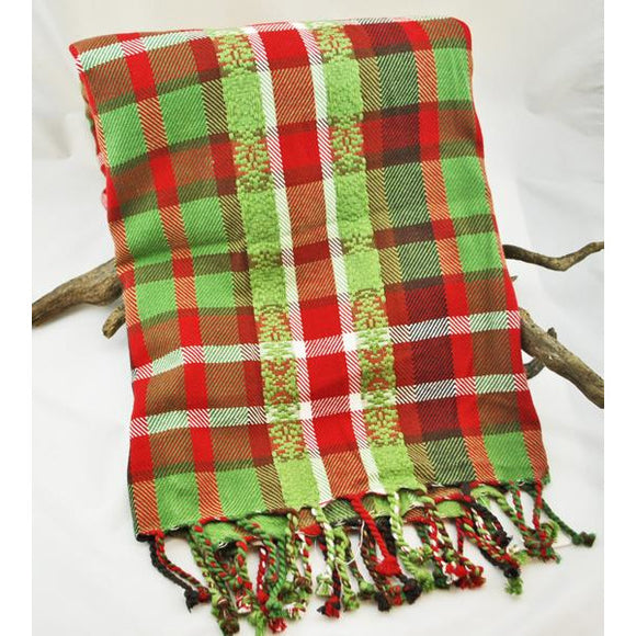 Deck the Halls Plaid Throw