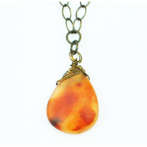 Carnelian Wrapped Necklace