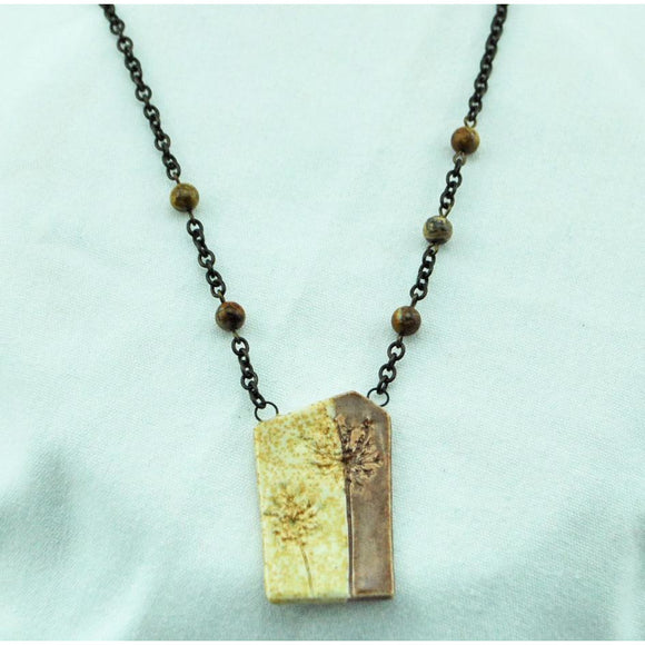Two Tone Queen Anne Necklace
