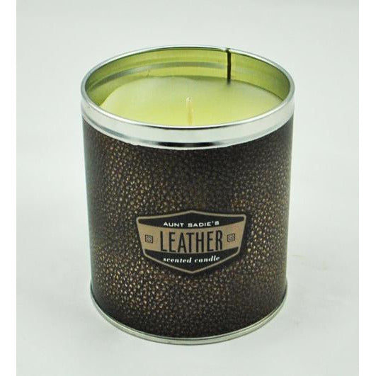 Leather Scented Candle in a Tin
